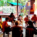 guitar lesson at csf chiang mai children's aid project