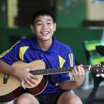 guitar by youngster of csf thailand