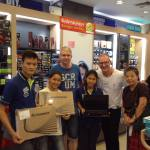 Sponsors of the Children's Shelter Foundation help for school equipment